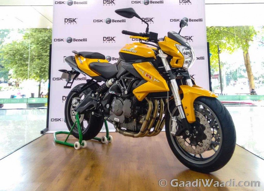 DSK Benelli TNT 600i in limited edition gold colour