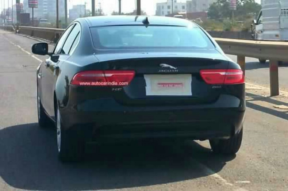 Jaguar XE spied testing in India rear