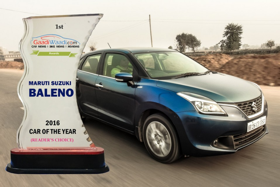 2016 gaadiwaadi reader's choice award - car of the year