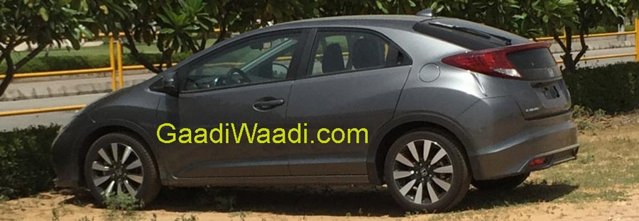 new car release in india 20152015 Honda Civic Spotted in India release details under wraps