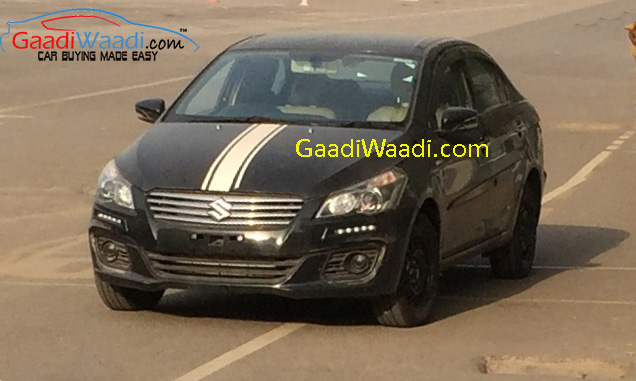 Maruti-Ciaz-with-DRL-spied