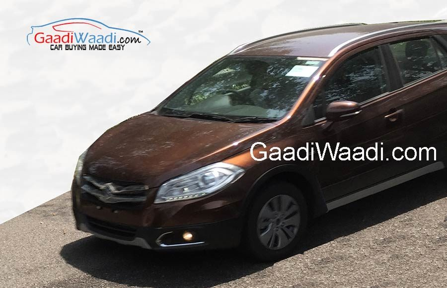 maruti-suzki-s-cross-in-brown-color-front-view