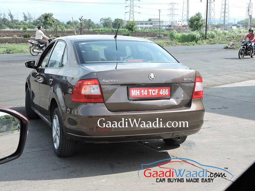 Vento Facelift Spied Testing With Skoda Rapid 1 2 Tsi