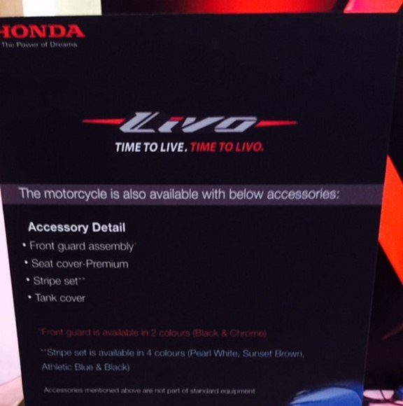 2015 Honda Livo Accessories