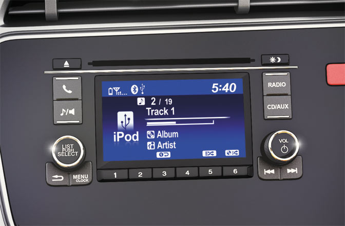 2015 honda jazz music system