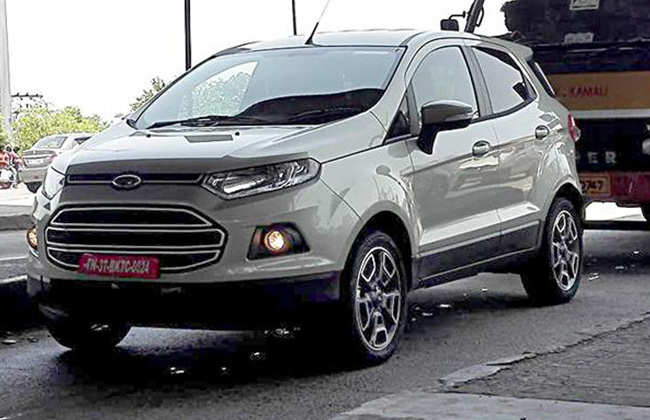 Ford EcoSport facelift caught on test, launch in 2016