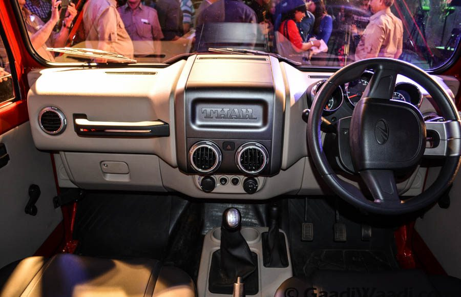 Mahindra Thar 2015 facelift launched interior