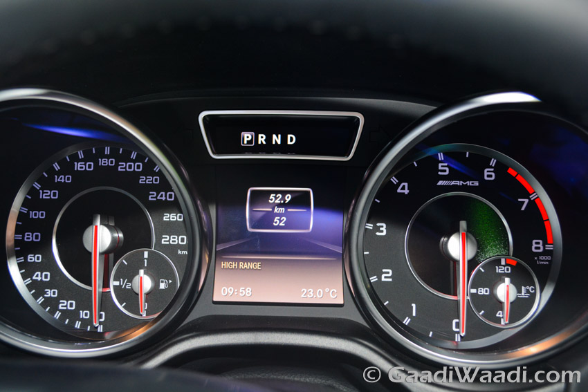 Mercedes-Benz AMG G63 Crazy Colour speedo console