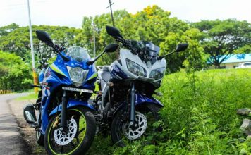 Suzuki Gixxer SF vs Yamaha Fazer Test ride review