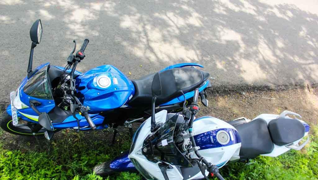 Suzuki Gixxer SF vs Yamaha Fazer colors