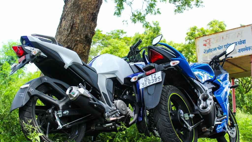 Suzuki Gixxer SF vs Yamaha Fazer road test review