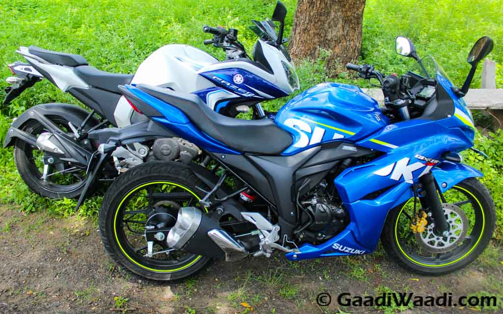 Home Yamaha Fazer Fi vs Suzuki Gixxer SF – Comparison Review Suzuki ...