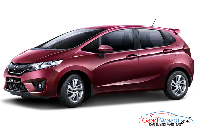 2015 honda jazz launched in india priced at lakhs. Black Bedroom Furniture Sets. Home Design Ideas