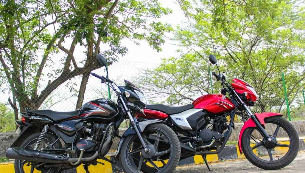 honda shine vs yamaha saluto 125cc shootout