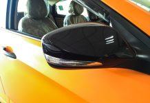 hyundai verna 4s vinyl black mirror