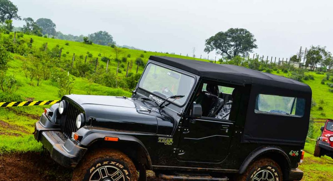 mahindra thar off roading