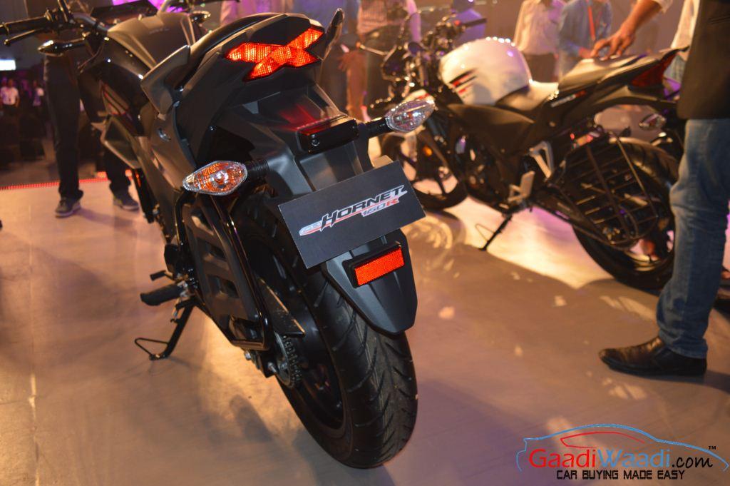 2015 Honda CB 160R Hornet rear - Gaadiwaadi.com