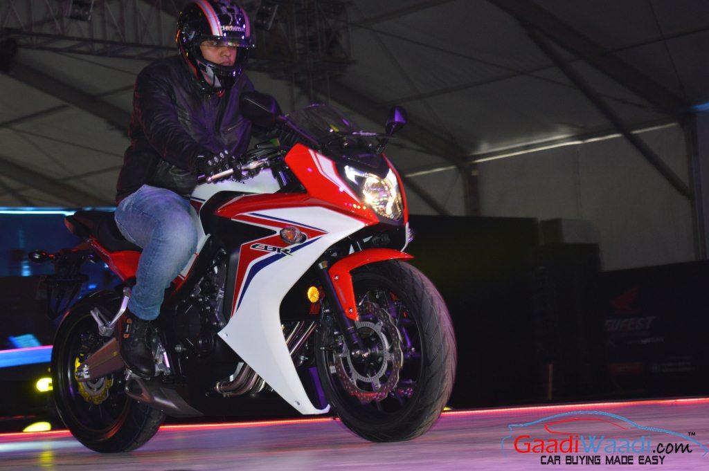 2015 Honda CBR650F front