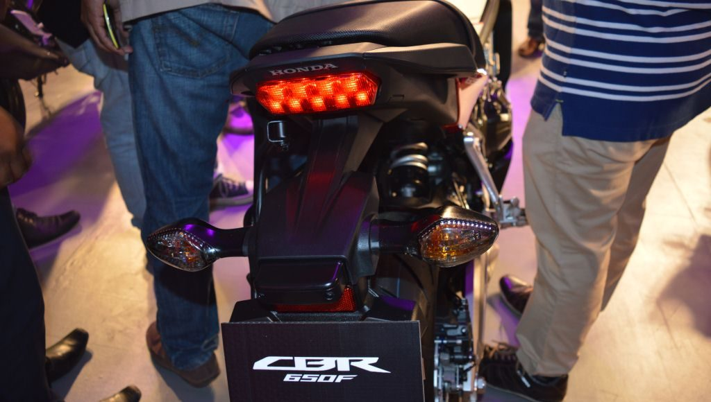 2015 Honda CBR650F rear