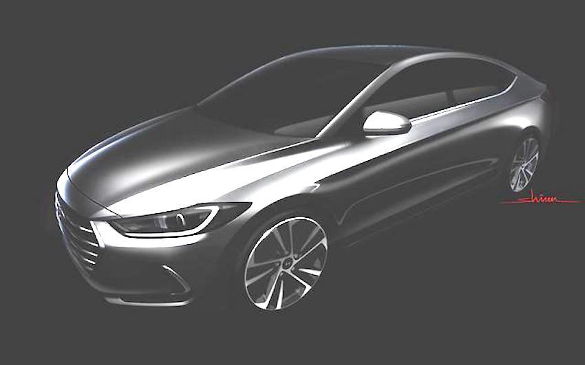 2016 Hyundai Elantra front three quarter teaser