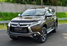 2016-Mitsubishi-Pajero-Sport-front-quarter-brown