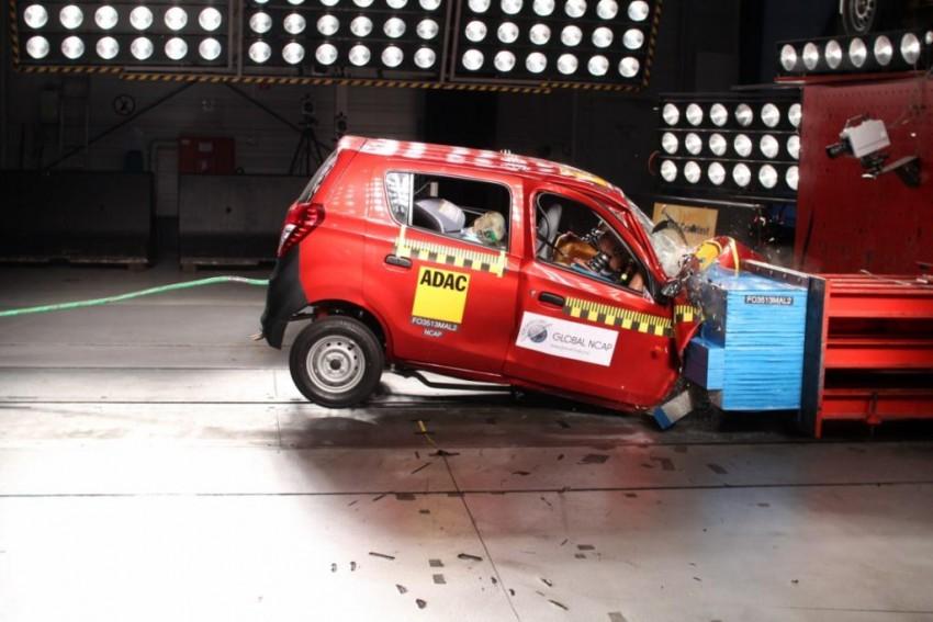 Global NCAP Maruti Alto 800 crash test