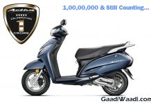 Honda Activa 1 Crore sold
