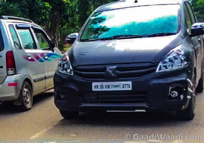 Maruti Suzuki Ertiga 2015 spied testing 7