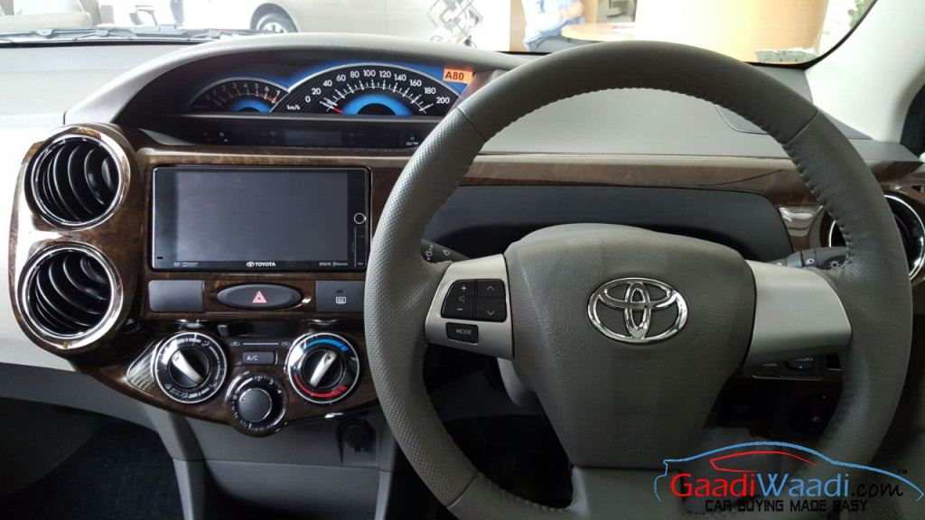 Toyota Etios Xclusive interior