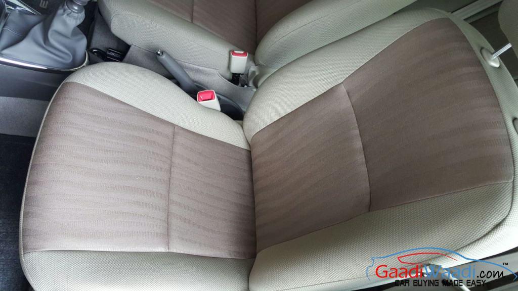 Toyota Etios Xclusive seats