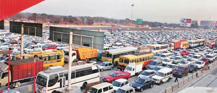 toll naka india traffic