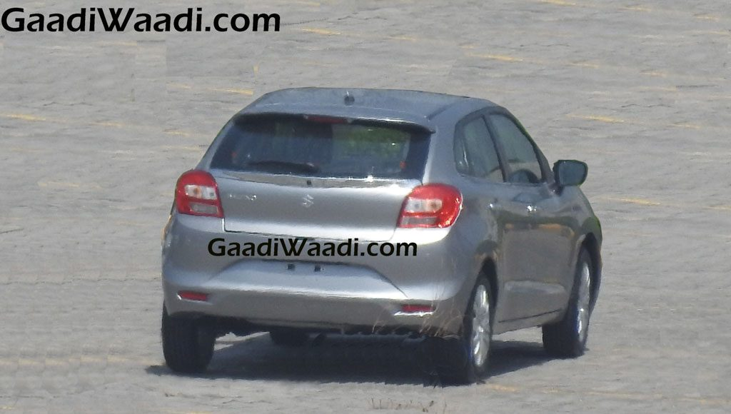2016 Suzuki Baleno in silver color rear view