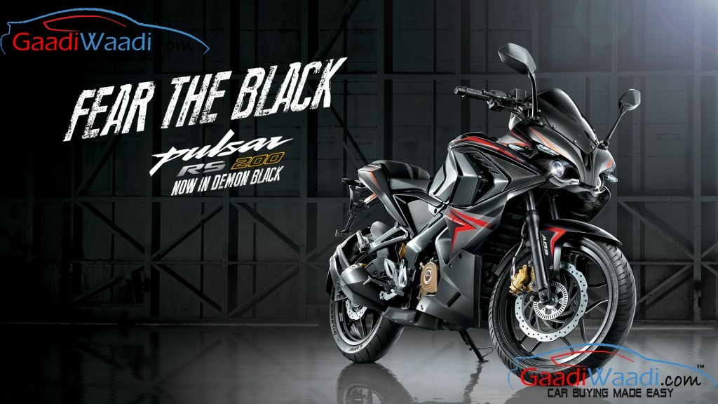 Bajaj PulsarRS 200 Demon Black Fear