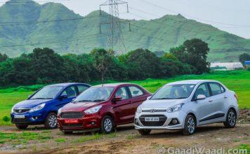 Ford Aspire Vs Hyundai Xcent Vs Tata Zest (1)