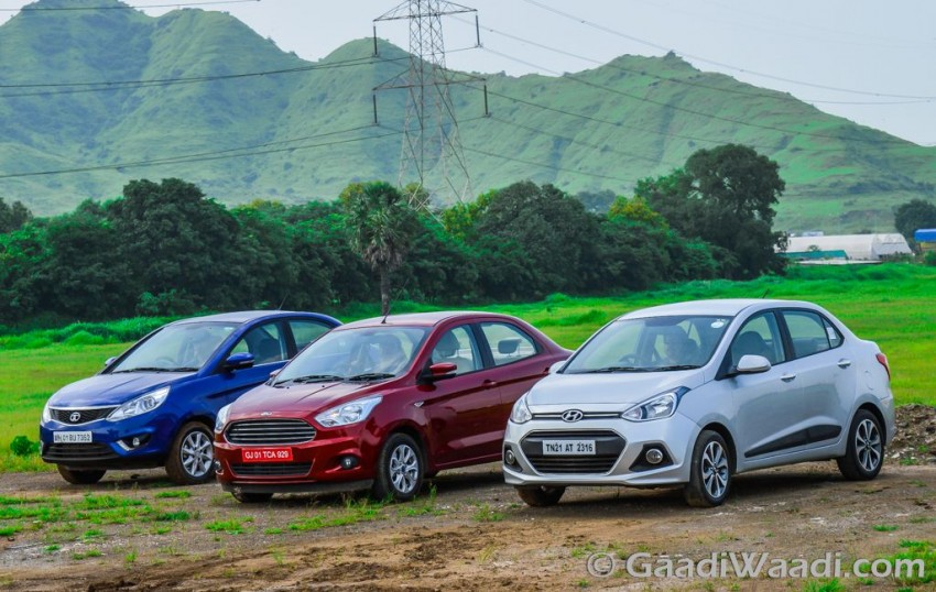 Ford Aspire Vs Hyundai Xcent Vs Tata Zest (1)