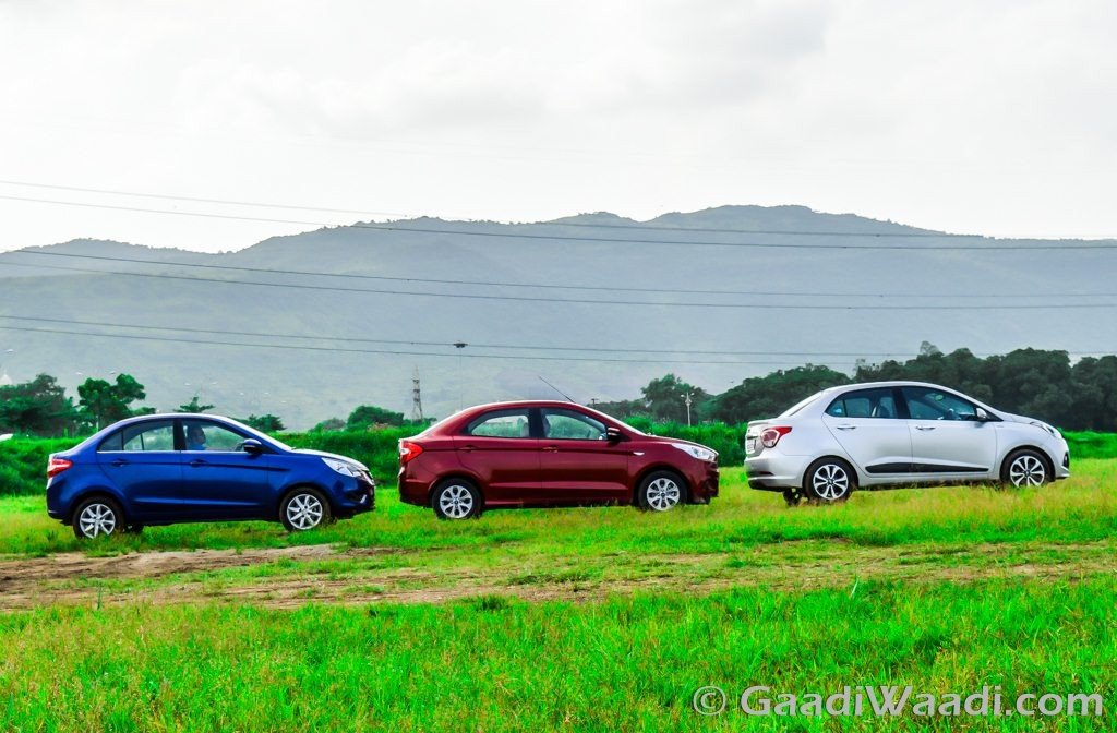 Ford Aspire Vs Hyundai Xcent Vs Tata Zest (10)