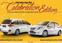Honda Amaze and Mobilio Celebration Edition