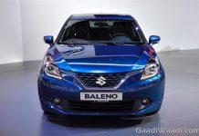 Maruti Suzuki Baleno 2016 india launch blue front