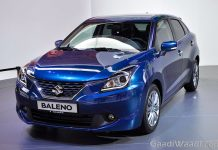 Maruti Suzuki Baleno 2016 india launch blue front quarter
