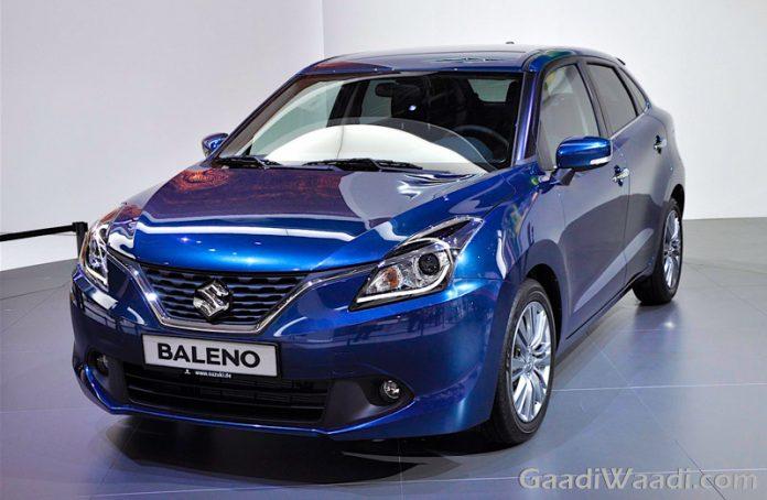 Maruti Suzuki Baleno 2016 india launch blue front quarter