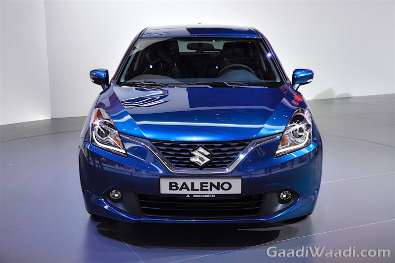 Maruti Suzuki Baleno 2016 india launch blue front