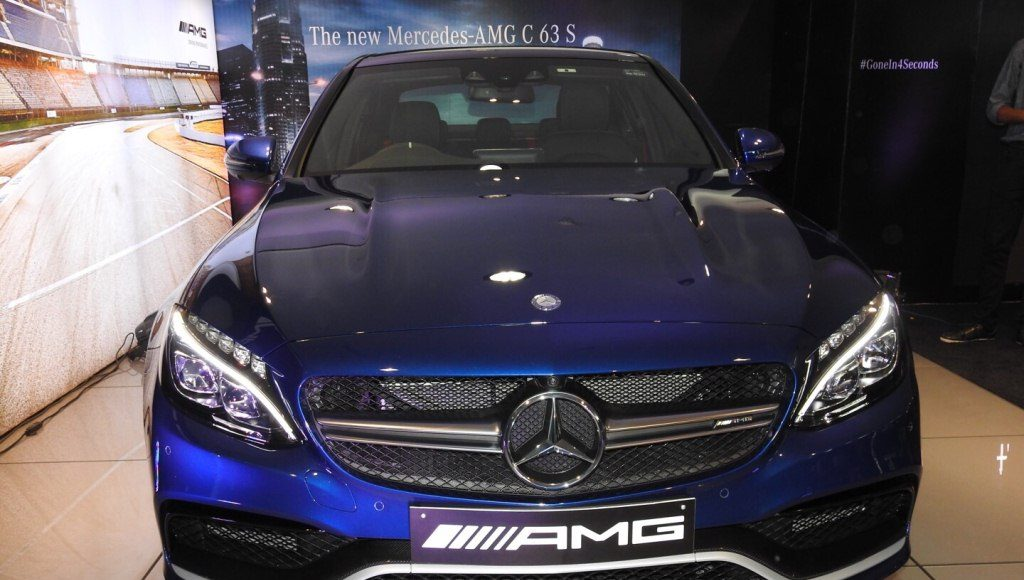 Mercedes AMG C 63 S India front