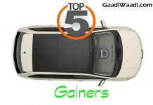 Top 5 gainers in monthly sales