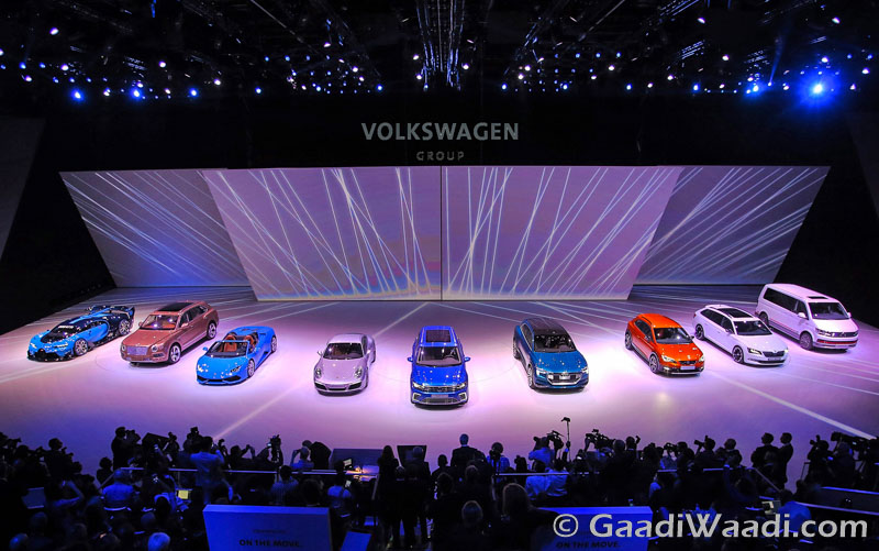 Volkswagen group night Frankfurt motor show 2015