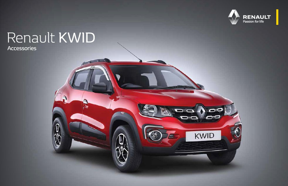 renault kwid accessory pack