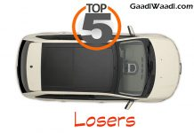 top 5 losers in monthly sales