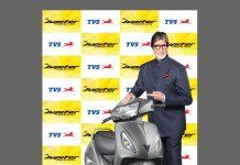 Amitabh Bachchan with TVS Jupiter
