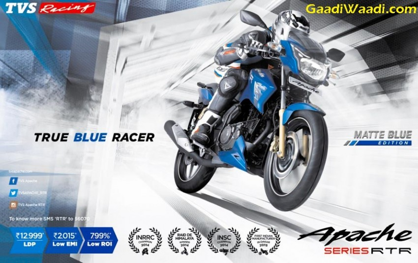 Matte Blue Edition of Apache RTR launched