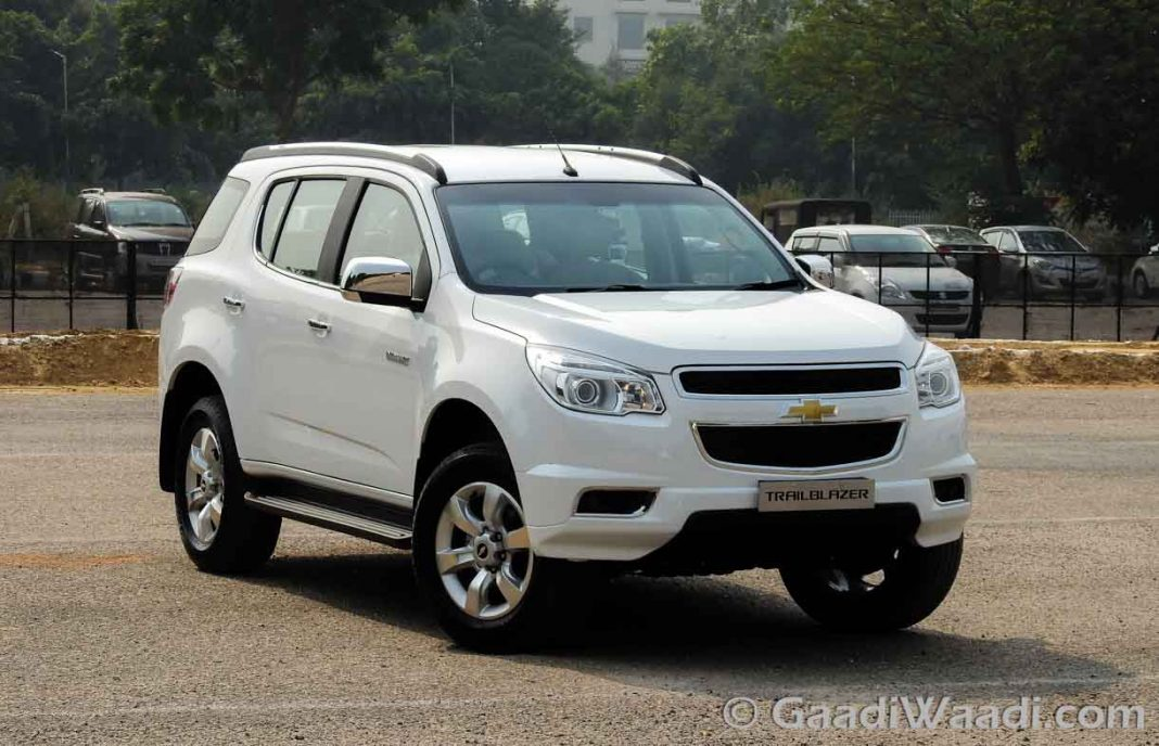 Chevrolet Trailblazer Price Reduced By A Whopping Rs 304 Lakh