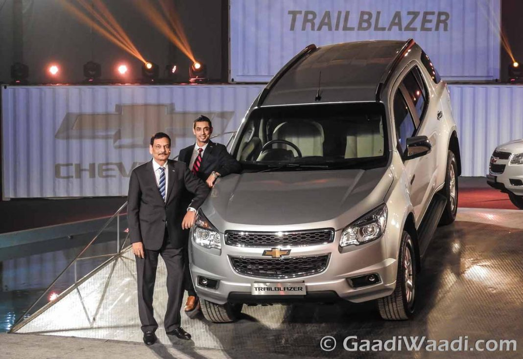 Chevrolet Trailblazerin India-3
